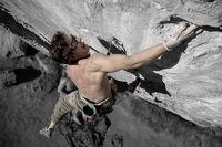 Markus Bendler in einer der schwierigsten Routen Tirols - Mongo 11 Schwierigkeitsgrad