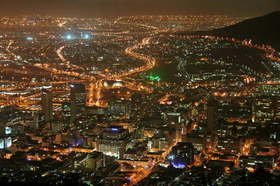 Cape Town at Night, View from Signal Hill