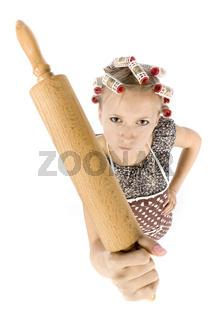 headshot of mad housewife