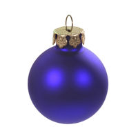 Christbaumkugel blau - blue christmas bulb