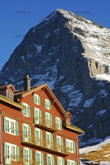 Auf der Kleinen Scheidegg, Eiger Nordwand, Schweiz