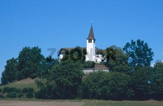 Kirche bei Gailingen am Oberrhein