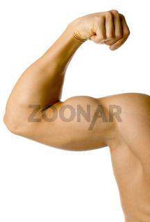 Male flexed arm