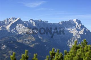 Alpspitze bis Zugspitze vom Wank