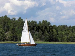 Folkeboot, Segler am Wind,