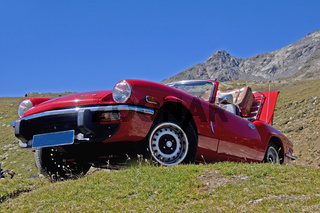 Auf dem Gaviapass/ mountain trip with car