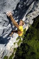 Guido Unterwurzacher klettert in Achleiten / Tirol