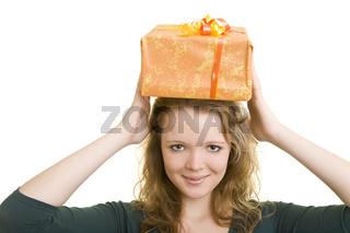 Geschenk auf dem Kopf