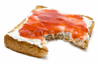 Angebissener Toast