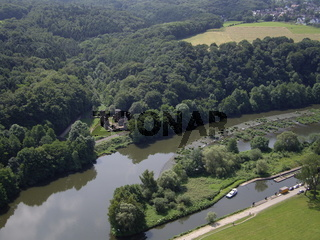 Luftbild Ruine Hardenstein Witten