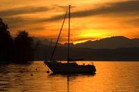 Sonnenuntergang am See 1