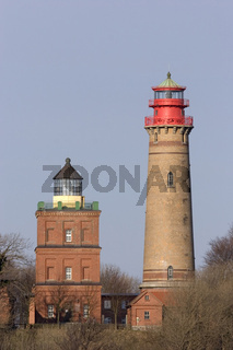 Kap Arkona Leuchtturm, lighthouses at Cape Arcona, Ruegen, Germany