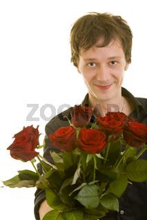Gentleman mit Rosen
