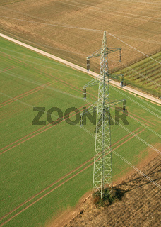 Power Pole From Above / Strommast von oben