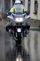 police on motorbike in Austria