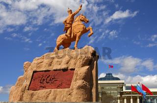 Suchbaatar Denkmal, Ulanbator, Mongolei