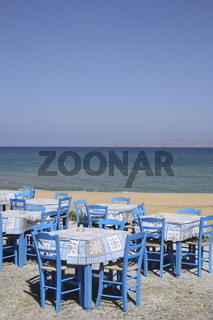 restaurant at the beach of Crete, Greece