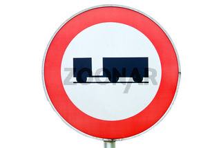 Fahrverbot für Anhaenger | ban on driving for trailer