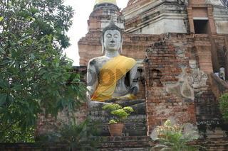 Sitzender Buddha in Ayutthaya