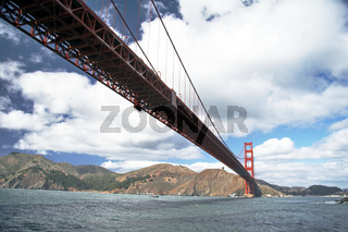 Golden gate bridge from sea side