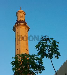 Dubai, Minarett einer Moschee