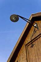Hausdach mit Lampe