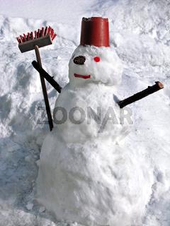Schneemann, Figur aus Schnee