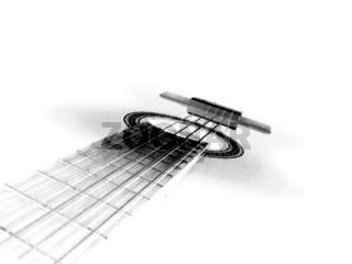 Weiße Gitarre