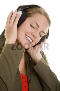 Glücklich Musikhören