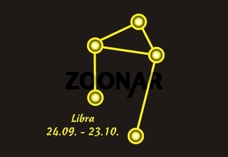 Sign of the zodiac libra