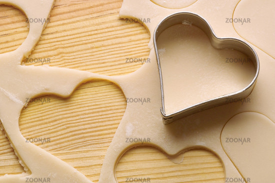 Cookie dough and cookie cutter