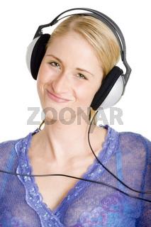Grinsen mit Kopfhörern