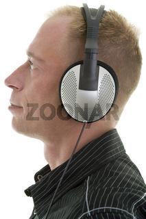 Profil mit Kopfhörern