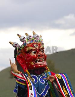 Tibetanische buddhistische Tanzmaske
