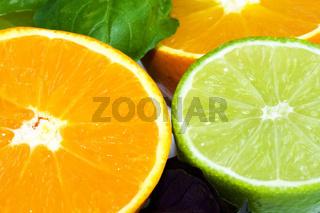 Orange und Limette