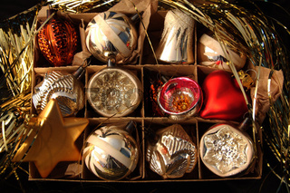 historische Weihnachtskugeln