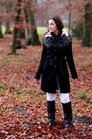 Junge Frau im Winter