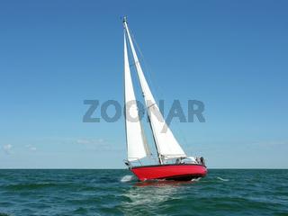 Rote Segelyacht