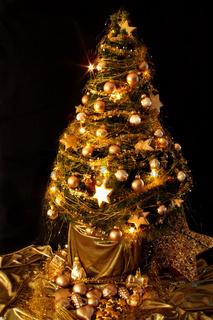 Weihnachtsbaum Gold