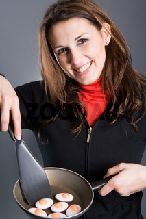 Moderne Hausfrau