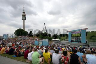 Fanfest im Olympiapark in München