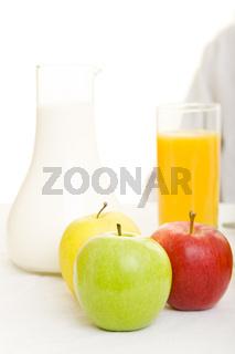Äpfel und Getränke