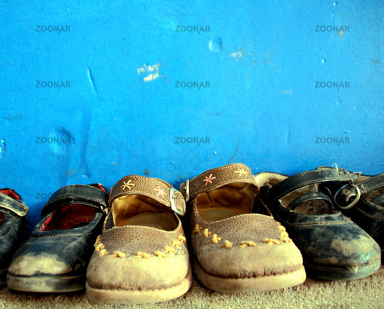 School, children's shoes (Peru)