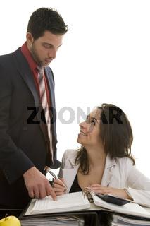 Vorgesetzter macht Einarbeitung
