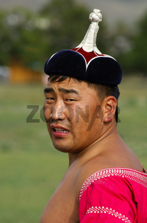Traditioneller mongolischer Ringkämpfer