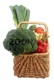 Gemüsekorb - Basket of vegetables