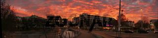 Technische Universität Wien im Abendrot
