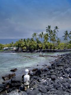 Hawaii, guardian, Big Island, Pu'uhonua o Honaunau