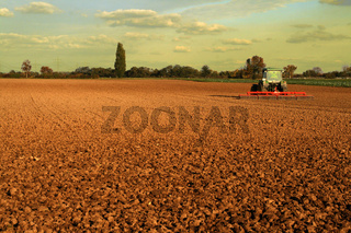 Traktor im Feld
