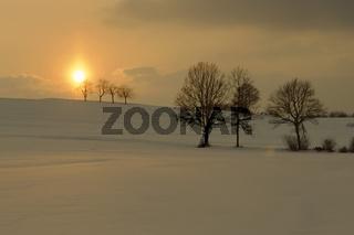 winter landscape, winterlandschaft, red sunset, sonnenuntergang, middle franconia, mittelfranken, bavaria, bayern, deutschland, germany, europa, europe,